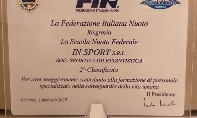 IN SPORT: la prevenzione viene premiata dalla FIN: 2° Società in Italia per numero di AB formati nel 2019